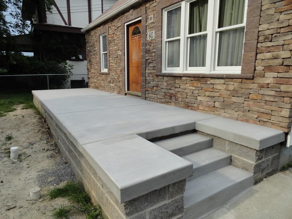 Concrete porch photos ventry concrete buffalo ny for Best way to clean concrete porch